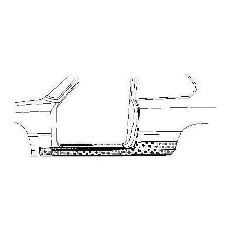 bas de caisse gauche 2 portes pour bmw serie 3 e21 de 1975 1982 carrossauto. Black Bedroom Furniture Sets. Home Design Ideas