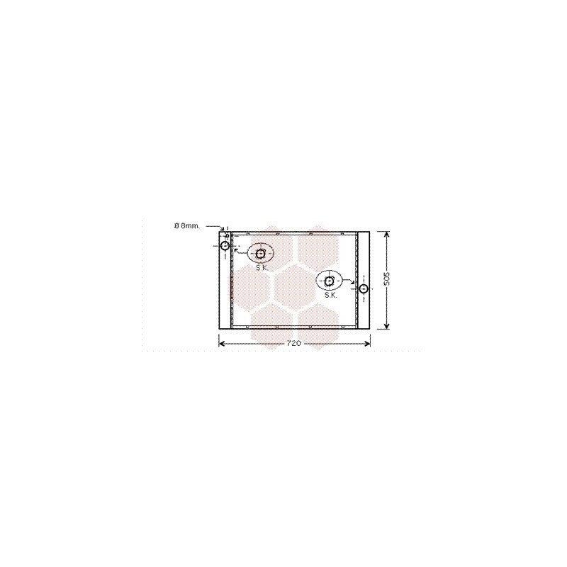 radiateur moteur pour bmw serie 5 version 540i 550i de 2005 2010 ebay. Black Bedroom Furniture Sets. Home Design Ideas