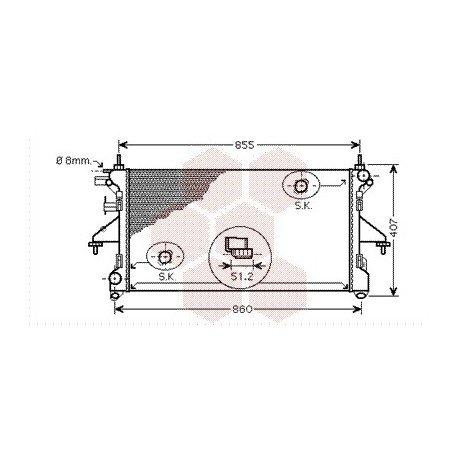 radiateur moteur pour peugeot boxer version 2 2 hdi 3 0 hdi de 2006 2015 pour peugeot boxer. Black Bedroom Furniture Sets. Home Design Ideas