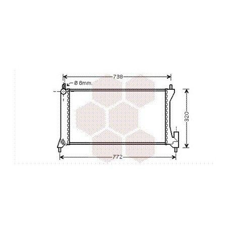 radiateur moteur pour suzuki wagon r version 1 3 ddis de 2003 2008 pour suzuki wagon r. Black Bedroom Furniture Sets. Home Design Ideas