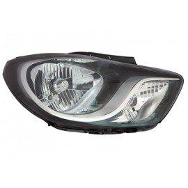 Phare avant droit avec clignotant Noir H4 + moteur éléctrique pour Hyundai i10 de 2011 à 2013