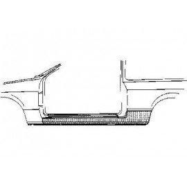 Bas de caisse gauche, 2 portes pour Fiat Uno de 1983 à 2000