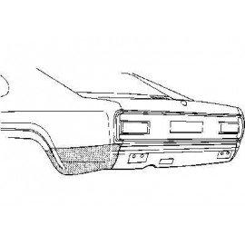 Coin bas d'aile arrière gauche pour Ford Capri d'après 1974