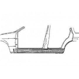 Bas de caisse gauche 4 portes pour Ford Escort 3 de 1980 à 1986