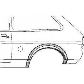 Arc d'aile arrière gauche 2 portes pour Ford Fiesta de 1976 à 1983