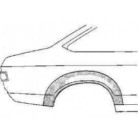 Arc d'aile arrière 2 portes coté droit pour Ford Capri d'après 1974