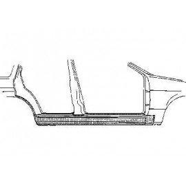 Bas de caisse droit 2 portes pour Ford Escort III de 1980 à 1986
