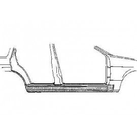 Bas de caisse droit 4 portes pour Ford Escort III de 1980 à 1986