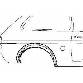 Arc d'aile arrière droite 2 portes pour Ford Fiesta de 1976 à 1989