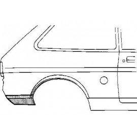 Coin bas d'aile arrière droite pour Ford Fiesta de 1976 à 1989