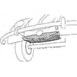 Pose roue de réserve avant pour Volkswagen Coccinelle sauf 1302 et 1303