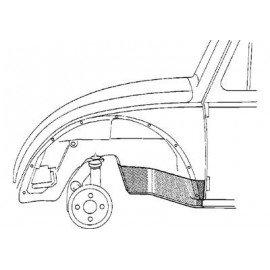 Pare-boue avant gauche pour Volkswagen Coccinelle version 1302 et 1303