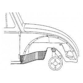 Pare-boue avant droit pour Volkswagen Coccinelle version 1302 et 1303