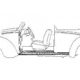 Tôle montage pour marchepied gauche pour Volkswagen Coccinelle