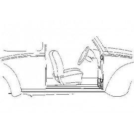 Support charnière coté droit pour Volkswagen Coccinelle