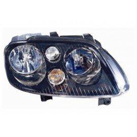 Phare droit H7 + H7 avec feu de direction avec moteur intérieur chrome et noir pour Volkswagen Touran de 2003 à 2007