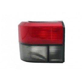 Feu arrière gauche sans partie électrique (feu direction fumé) pour Volkswagen Transporter de 1992 à 2003