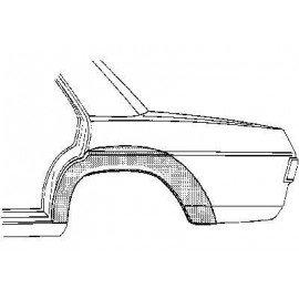 Arc d'aile arrière gauche 4 portes pour Mercedes classe E - W114-115 de 1968 à 1975