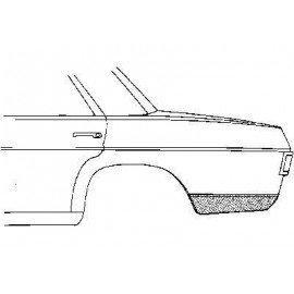 Coin bas d'aile arrière gauche pour Mercedes classe E - W114-115 de 1968 à 1975
