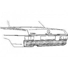 Panneau sous pare-chocs pour Mercedes classe E - W114-115 de 1968 à 1975