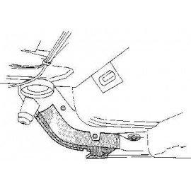 Poutre arrière droite pour Mercedes classe E - W114-115 de 1968 à 1975