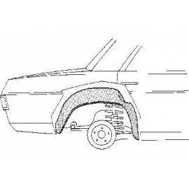 Arc aile arrière intérieur droite pour Mercedes classe E - W114-115 de 1968 à 1975