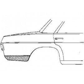 Coin bas d'aile arrière droit pour Mercedes classe E - W114-115 de 1968 à 1975