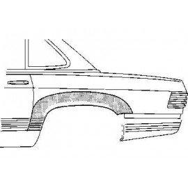 Arc d'aile arrière gauche 2 portes pour Mercedes SL - W107 de 1971 à 1989