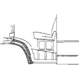 Arc d'aile avant gauche (partie arrière) pour Mercedes T1 207 D