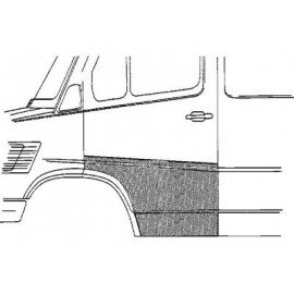 Panneau de porte gauche large pour Mercedes T1 207 D