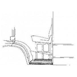 Bas de caisse gauche pour Mercedes T1 207 D