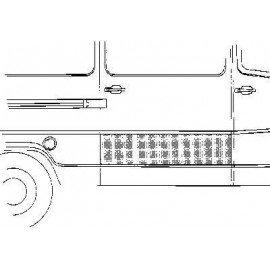 Panneau porte de charge (coté droit) pour Mercedes T1 207 D