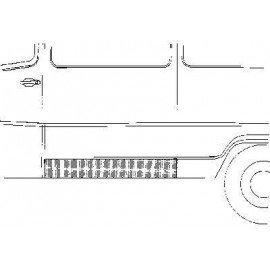 Panneau latéral inférieur (coté gauche) pour Mercedes T1 207 D