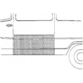 Panneau latéral inférieur large (coté gauche) pour Mercedes T1 207 D