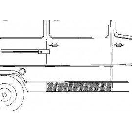 Panneau latéral inférieur (coté droit) pour Mercedes T1 207 D
