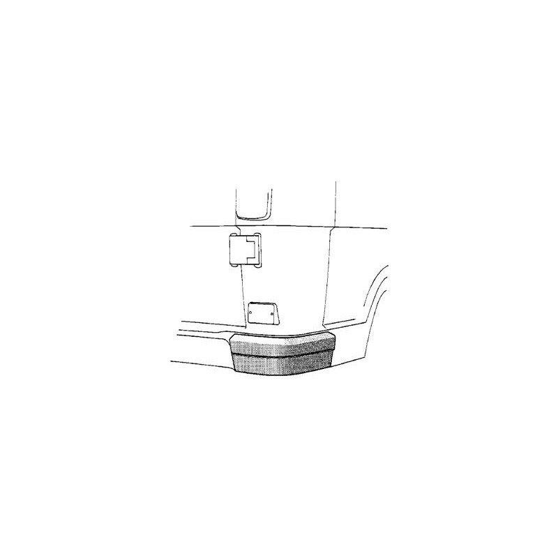 pare chocs arri re droit plastique pour mercedes t1 207 d depuis 1977. Black Bedroom Furniture Sets. Home Design Ideas