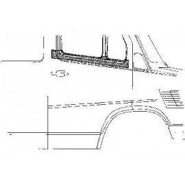 Panneau de porte supérieur droite pour Mercedes T1 207 D