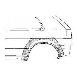 Arc d'aile arrière gauche pour Opel Astra F de 1991 à 1998 version 2 ou 3 portes