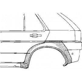 Arc d'aile arrière gauche pour Opel Astra F de 1991 à 1998 version 5 portes