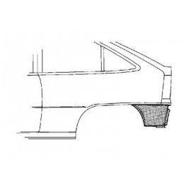 Coin bas d'aile arrière gauche pour Opel Astra F de 1991 à 1998