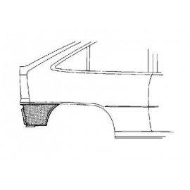 Coin bas d'aile arrière droite pour Opel Astra F break de 1991 à 1998