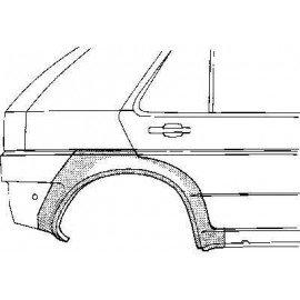 Arc d'aile arrière droite pour Opel Astra F d'avant 1998 version 5 portes