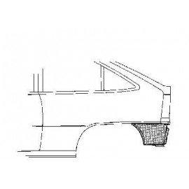 Coin bas d'aile arrière gauche pour Opel Kadett E version 3/5 portes