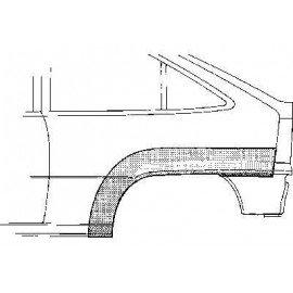 Arc d'aile arrière gauche pour Opel Kadett E version 3 portes sauf modèle Combo