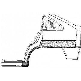Arc d'aile arrière gauche pour Opel Kadett E version 5 portes sauf modèle Combo