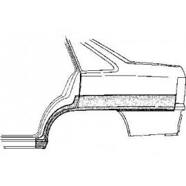 Arc d'aile arrière gauche pour Opel Kadett E version 4 portes modèle Berline