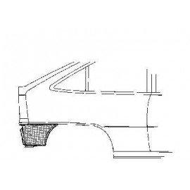 Coin bas d'aile arrière droite pour Opel Kadett E version 3/5 portes