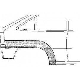 Arc d'aile arrière droite pour Opel Kadett E version 3 portes sauf modèle Combo