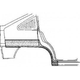 Arc d'aile arrière droite pour Opel Kadett E version 5 portes sauf modèle Combo