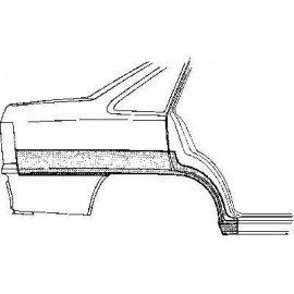 Arc d'aile arrière droite pour Opel Kadett E version 4 portes modèle Berline